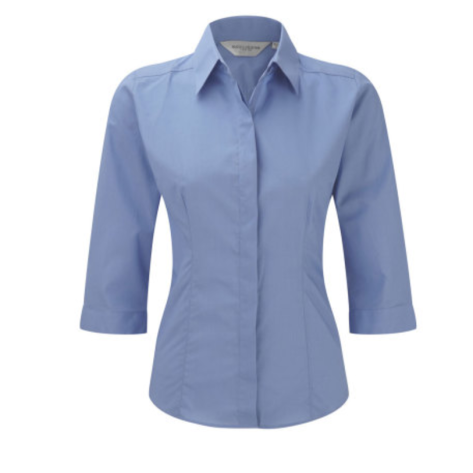 Russell Popelin Bluse mit 3/4 Arm