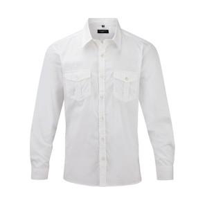 Russell Mens Roll Sleeve Shirt LS