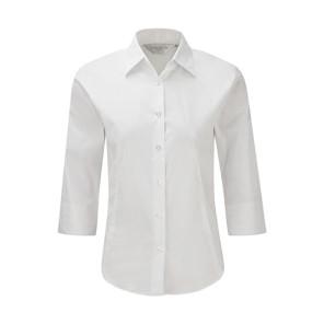 Russell Körperbetonte Stretch-Bluse mit 3/4 Arm