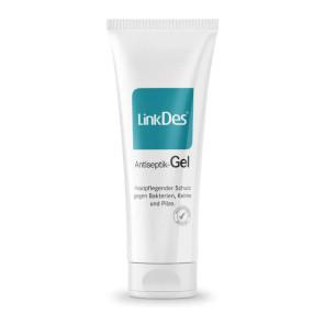 LinkDes® Antiseptik-Gel für unterwegs, Desinfektionsgel, Handhygiene-Gel (5x 75 ml)